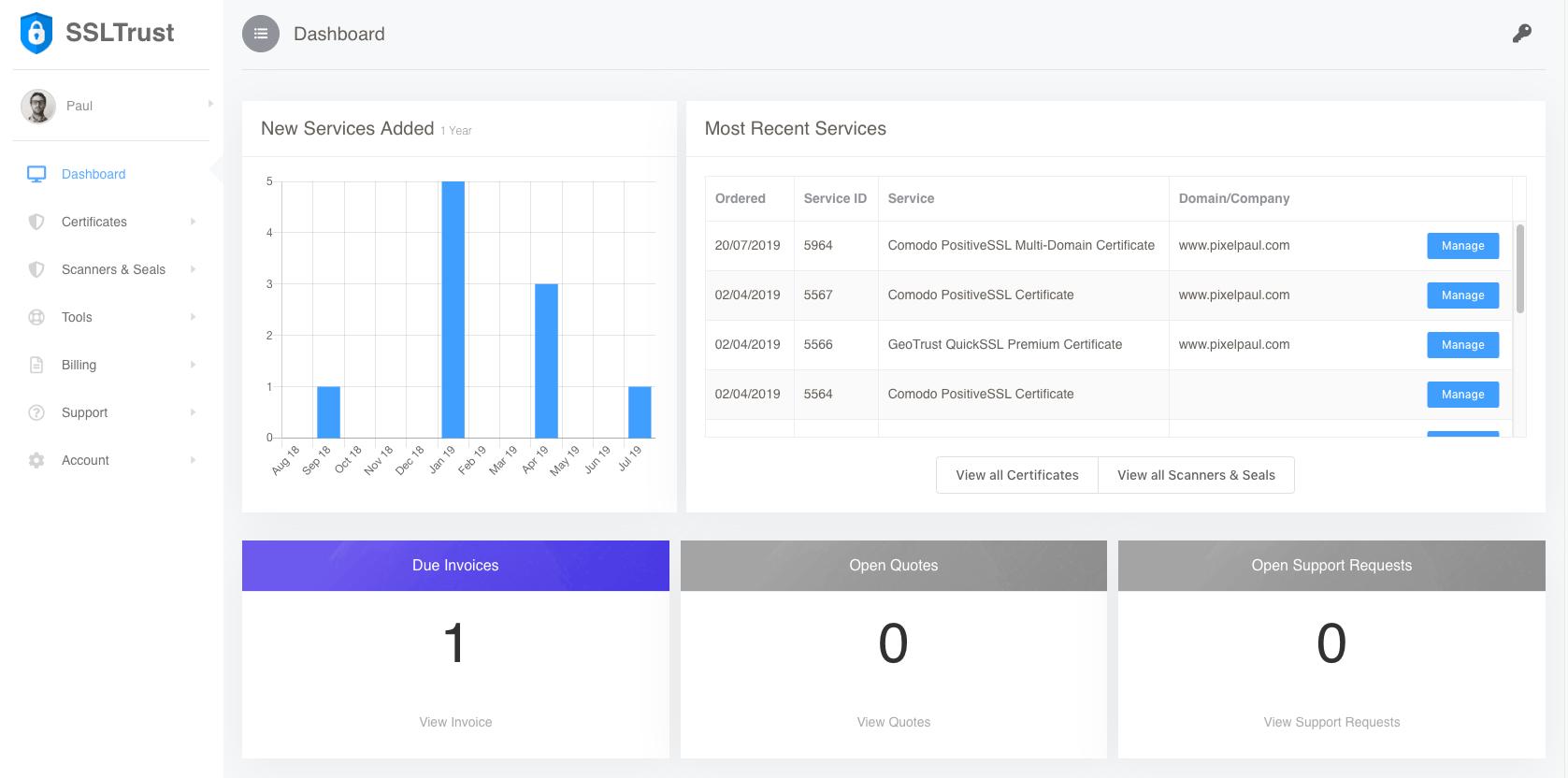 SSLTrust New Portal