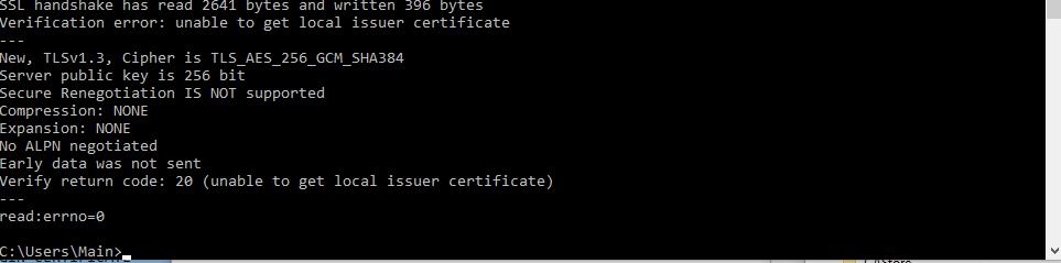 Valid Intermediate Certificate Check