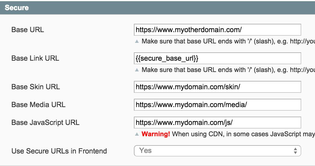 magento ssl multi domains