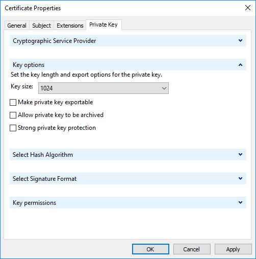 Key Options