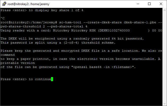 sc-hsm-tool create-dkek-share