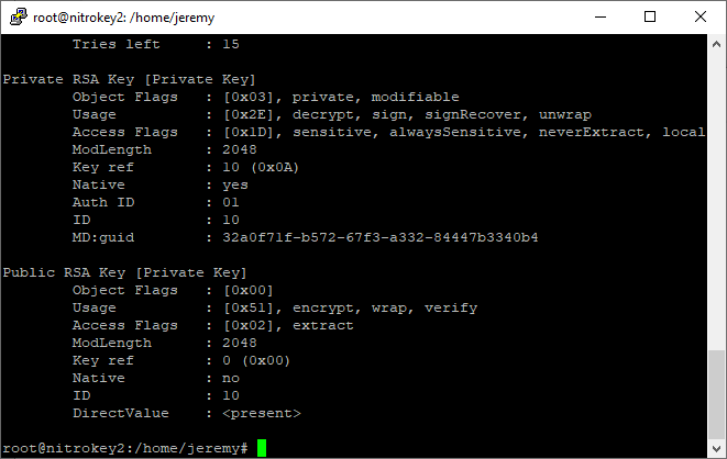 pkcs15-tool list
