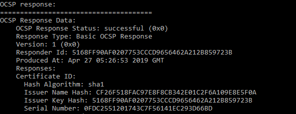 Verify OCSP Stapling