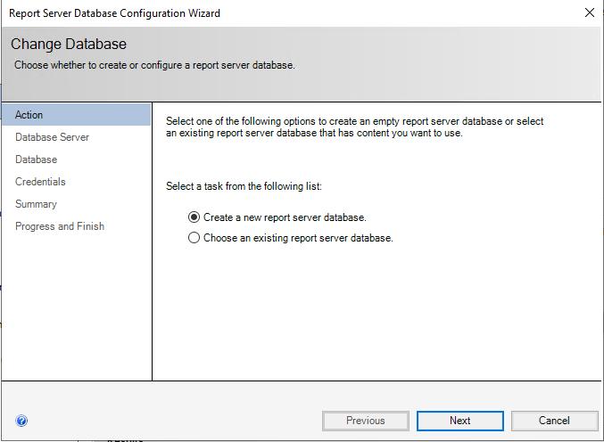 Create New Report Server