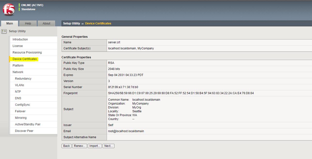 F5 BigIp Configure SSL
