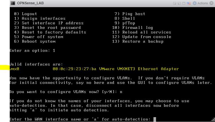 OPNSense Configure WLAN