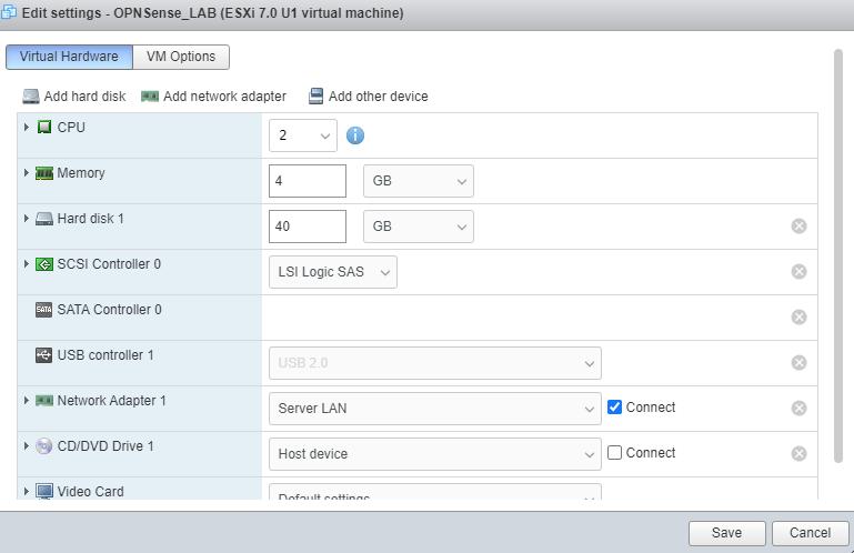 opnsense edit settings