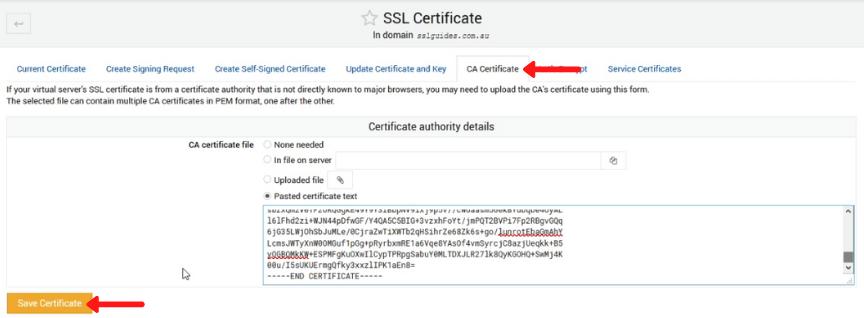 webmin virtualmin install ca bundle certificate
