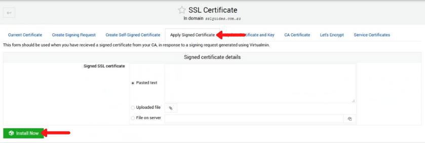 webmin virtualmin install ssl