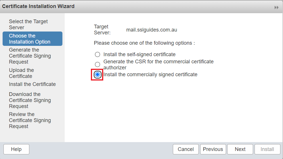 zimbra-commercial-certificate
