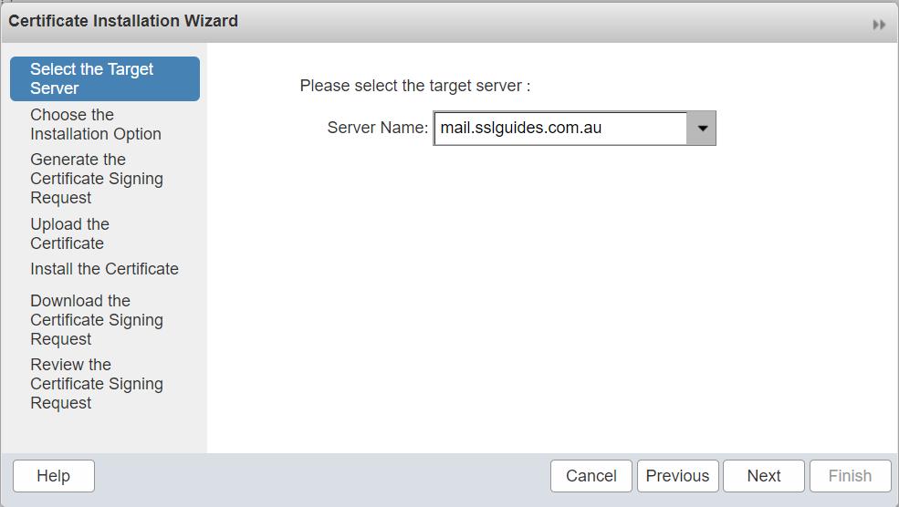 zimbra-select-target-server