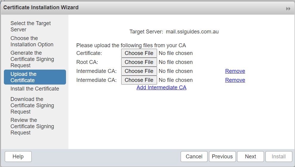 zimbra-upload-certificates